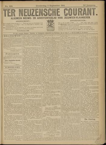 Ter Neuzensche Courant. Algemeen Nieuws- en Advertentieblad voor Zeeuwsch-Vlaanderen / Neuzensche Courant ... (idem) / (Algemeen) nieuws en advertentieblad voor Zeeuwsch-Vlaanderen 1914-09-03