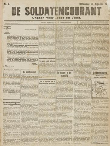 De Soldatencourant. Orgaan voor Leger en Vloot 1914