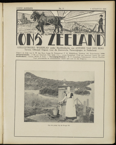 Ons Zeeland / Zeeuwsche editie 1929-08-03
