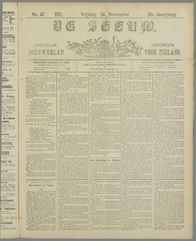 De Zeeuw. Christelijk-historisch nieuwsblad voor Zeeland 1911-11-24
