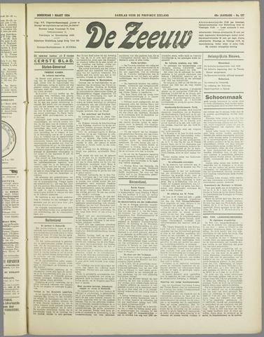 De Zeeuw. Christelijk-historisch nieuwsblad voor Zeeland 1934-03-01