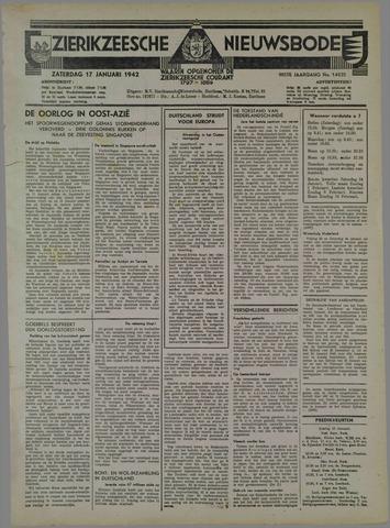 Zierikzeesche Nieuwsbode 1942-01-17