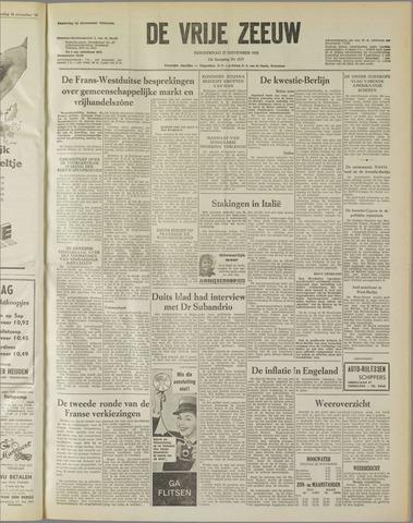 de Vrije Zeeuw 1958-11-27