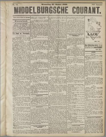 Middelburgsche Courant 1922-03-27