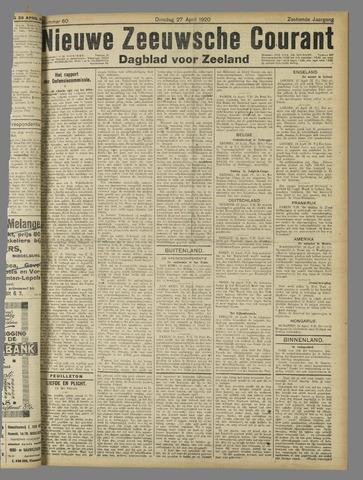 Nieuwe Zeeuwsche Courant 1920-04-27