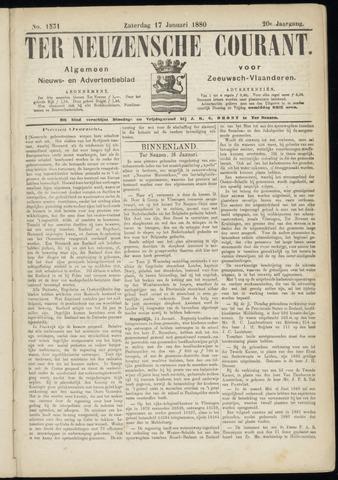Ter Neuzensche Courant. Algemeen Nieuws- en Advertentieblad voor Zeeuwsch-Vlaanderen / Neuzensche Courant ... (idem) / (Algemeen) nieuws en advertentieblad voor Zeeuwsch-Vlaanderen 1880-01-17