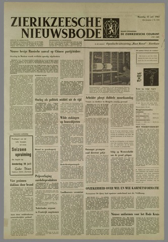 Zierikzeesche Nieuwsbode 1963-07-15