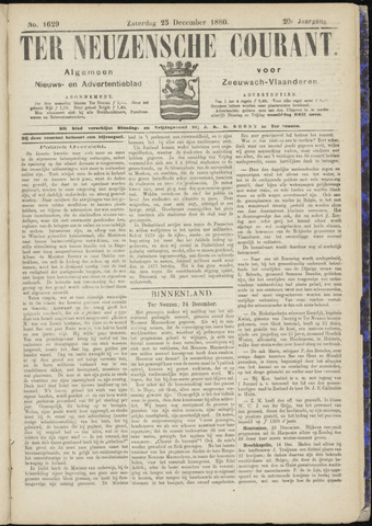 Ter Neuzensche Courant. Algemeen Nieuws- en Advertentieblad voor Zeeuwsch-Vlaanderen / Neuzensche Courant ... (idem) / (Algemeen) nieuws en advertentieblad voor Zeeuwsch-Vlaanderen 1880-12-25