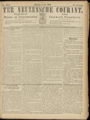 Ter Neuzensche Courant. Algemeen Nieuws- en Advertentieblad voor Zeeuwsch-Vlaanderen / Neuzensche Courant ... (idem) / (Algemeen) nieuws en advertentieblad voor Zeeuwsch-Vlaanderen 1904-07-05