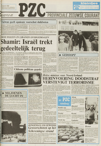 Provinciale Zeeuwse Courant 1983-07-11