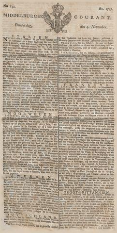Middelburgsche Courant 1779-11-04