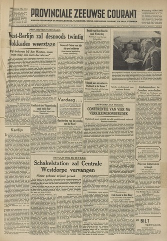 Provinciale Zeeuwse Courant 1952-05-14