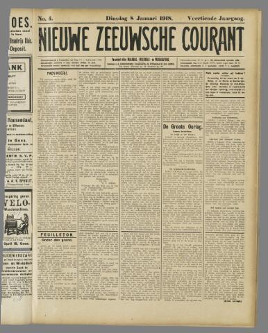 Nieuwe Zeeuwsche Courant 1918-01-08