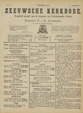 Zeeuwsche kerkbode, weekblad gewijd aan de belangen der gereformeerde kerken/ Zeeuwsch kerkblad 1888-12-01