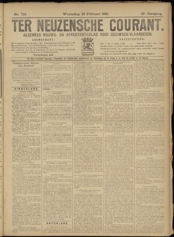 Ter Neuzensche Courant. Algemeen Nieuws- en Advertentieblad voor Zeeuwsch-Vlaanderen / Neuzensche Courant ... (idem) / (Algemeen) nieuws en advertentieblad voor Zeeuwsch-Vlaanderen 1921-02-23