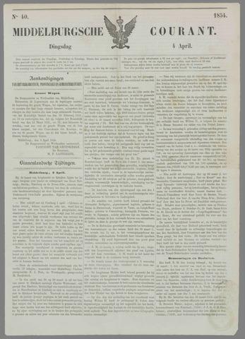 Middelburgsche Courant 1854-04-04