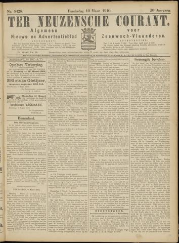 Ter Neuzensche Courant. Algemeen Nieuws- en Advertentieblad voor Zeeuwsch-Vlaanderen / Neuzensche Courant ... (idem) / (Algemeen) nieuws en advertentieblad voor Zeeuwsch-Vlaanderen 1910-03-10