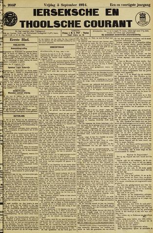 Ierseksche en Thoolsche Courant 1924-09-05