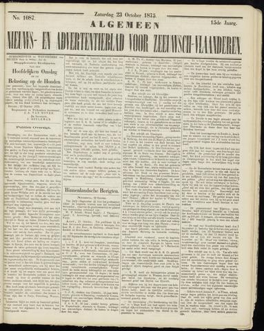 Ter Neuzensche Courant. Algemeen Nieuws- en Advertentieblad voor Zeeuwsch-Vlaanderen / Neuzensche Courant ... (idem) / (Algemeen) nieuws en advertentieblad voor Zeeuwsch-Vlaanderen 1875-10-23