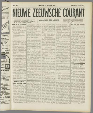 Nieuwe Zeeuwsche Courant 1911-01-31