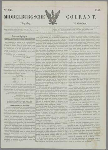 Middelburgsche Courant 1854-10-31