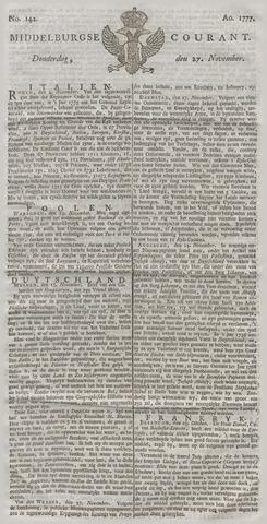 Middelburgsche Courant 1777-11-27