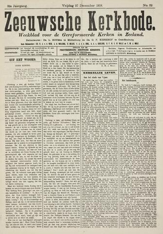 Zeeuwsche kerkbode, weekblad gewijd aan de belangen der gereformeerde kerken/ Zeeuwsch kerkblad 1918-12-27