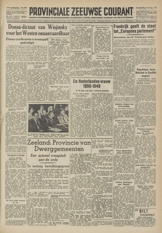 Provinciale Zeeuwse Courant 1948-08-19