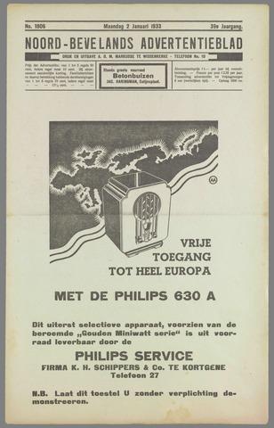 Noord-Bevelands Nieuws- en advertentieblad 1933-01-02