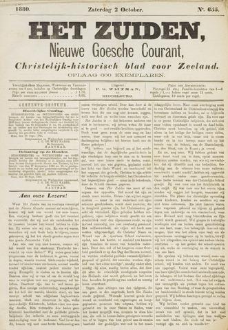 Het Zuiden, Christelijk-historisch blad 1880-10-02