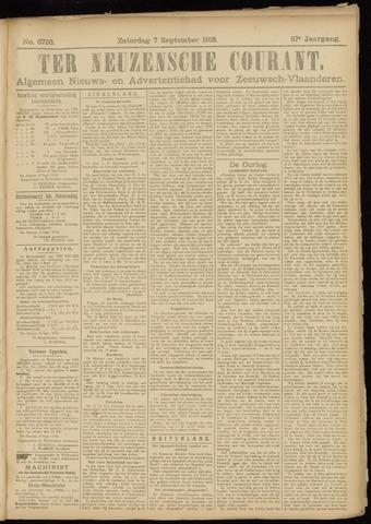 Ter Neuzensche Courant. Algemeen Nieuws- en Advertentieblad voor Zeeuwsch-Vlaanderen / Neuzensche Courant ... (idem) / (Algemeen) nieuws en advertentieblad voor Zeeuwsch-Vlaanderen 1918-09-07