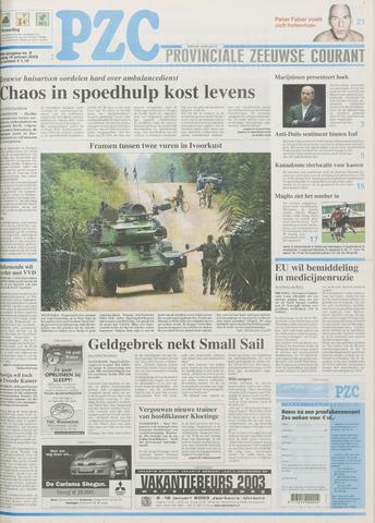 Provinciale Zeeuwse Courant 2003-01-10