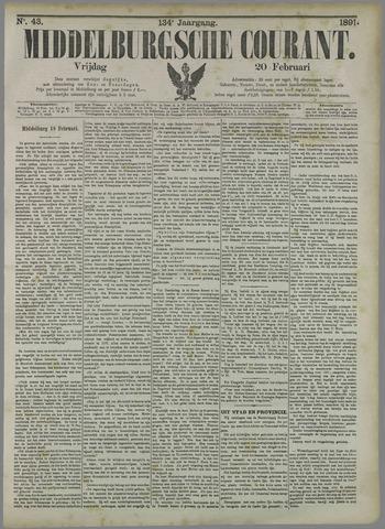 Middelburgsche Courant 1891-02-20