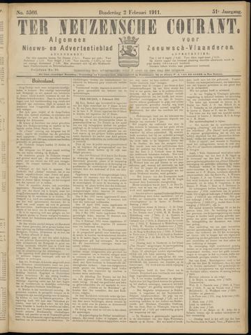 Ter Neuzensche Courant. Algemeen Nieuws- en Advertentieblad voor Zeeuwsch-Vlaanderen / Neuzensche Courant ... (idem) / (Algemeen) nieuws en advertentieblad voor Zeeuwsch-Vlaanderen 1911-02-02