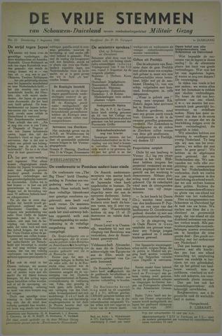 Vrije Stemmen van Schouwen-Duiveland, tevens mededeelingenblad Militair Gezag 1945-08-02