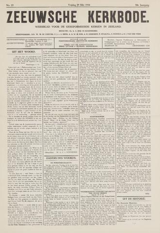 Zeeuwsche kerkbode, weekblad gewijd aan de belangen der gereformeerde kerken/ Zeeuwsch kerkblad 1936-05-29