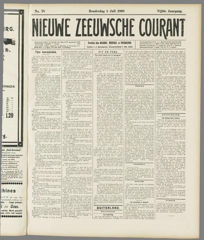 Nieuwe Zeeuwsche Courant 1909-07-01