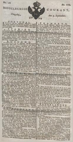 Middelburgsche Courant 1777-09-09