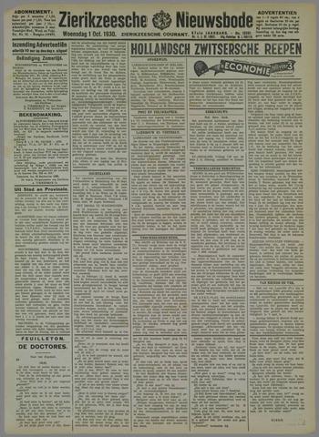 Zierikzeesche Nieuwsbode 1930-10-01