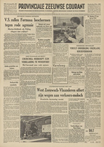 Provinciale Zeeuwse Courant 1954-12-02