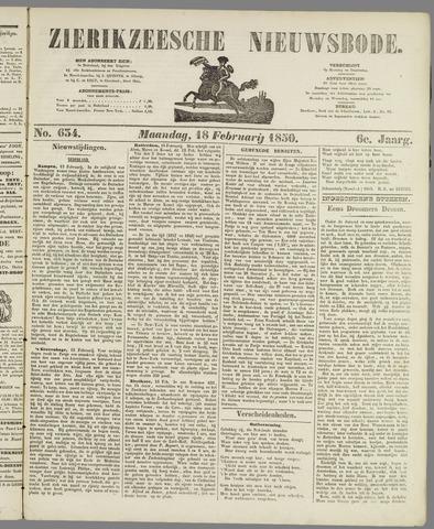 Zierikzeesche Nieuwsbode 1850-02-18