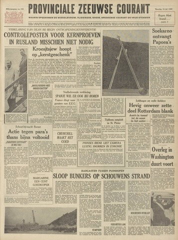 Provinciale Zeeuwse Courant 1962-07-16