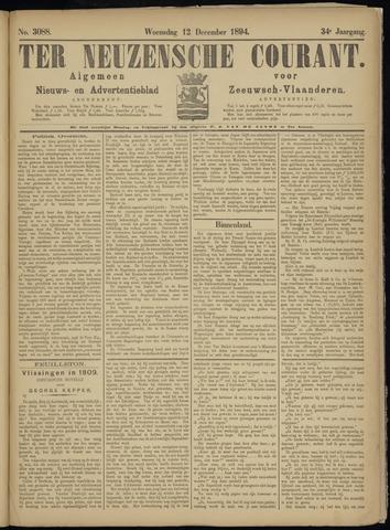 Ter Neuzensche Courant. Algemeen Nieuws- en Advertentieblad voor Zeeuwsch-Vlaanderen / Neuzensche Courant ... (idem) / (Algemeen) nieuws en advertentieblad voor Zeeuwsch-Vlaanderen 1894-12-12