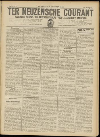 Ter Neuzensche Courant. Algemeen Nieuws- en Advertentieblad voor Zeeuwsch-Vlaanderen / Neuzensche Courant ... (idem) / (Algemeen) nieuws en advertentieblad voor Zeeuwsch-Vlaanderen 1939-10-18