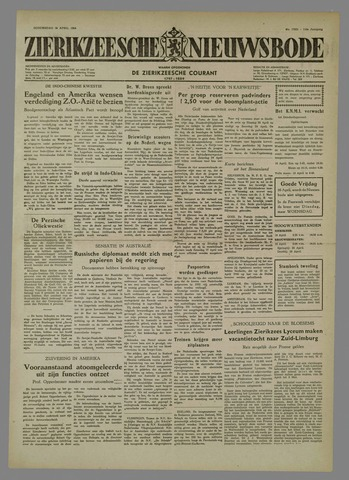 Zierikzeesche Nieuwsbode 1954-04-15