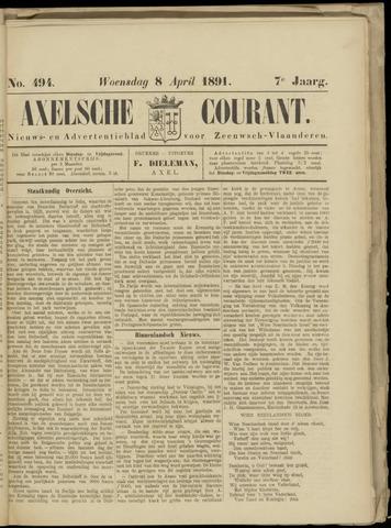 Axelsche Courant 1891-04-08
