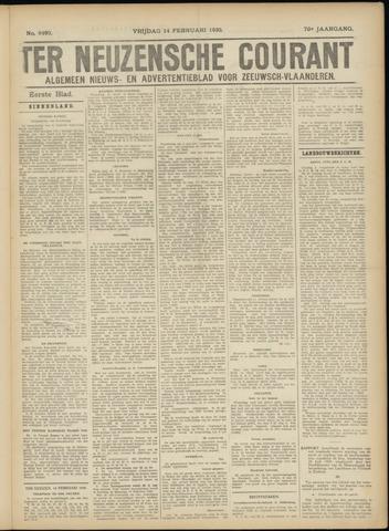 Ter Neuzensche Courant. Algemeen Nieuws- en Advertentieblad voor Zeeuwsch-Vlaanderen / Neuzensche Courant ... (idem) / (Algemeen) nieuws en advertentieblad voor Zeeuwsch-Vlaanderen 1930-02-14
