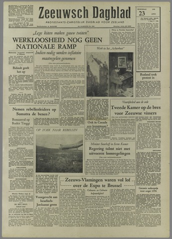 Zeeuwsch Dagblad 1958-04-23