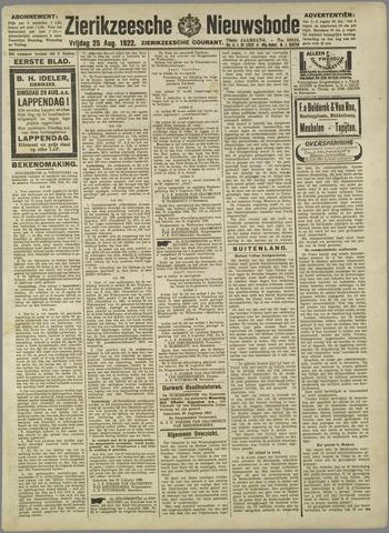 Zierikzeesche Nieuwsbode 1922-08-25