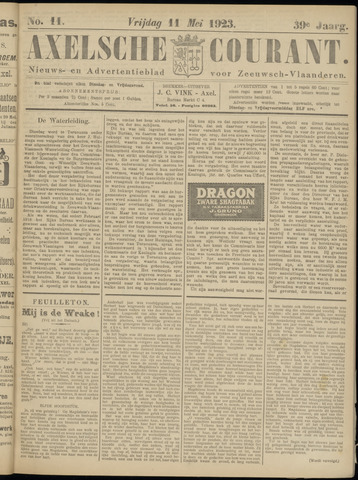 Axelsche Courant 1923-05-11